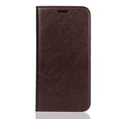 Funda de Cuero Cartera con Soporte Carcasa U01 para Huawei Enjoy 8S Marron