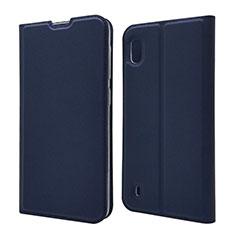 Funda de Cuero Cartera con Soporte Carcasa U01 para Samsung Galaxy A10 Azul