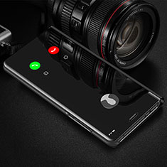Funda de Cuero Cartera con Soporte Espejo Carcasa L01 para Motorola Moto G9 Plus Negro