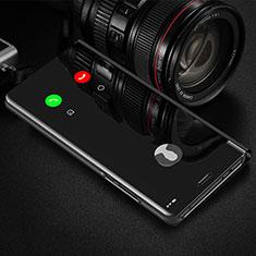 Funda de Cuero Cartera con Soporte Espejo Carcasa L01 para Samsung Galaxy M21s Negro