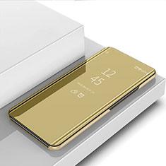 Funda de Cuero Cartera con Soporte Espejo Carcasa L02 para Samsung Galaxy A81 Oro