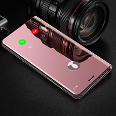 Funda de Cuero Cartera con Soporte Espejo Carcasa L02 para Xiaomi Mi Note 10 Lite Rosa