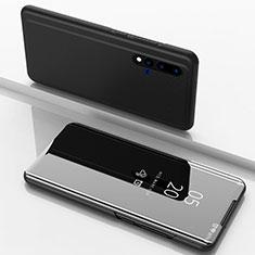 Funda de Cuero Cartera con Soporte Espejo Carcasa L03 para Huawei Nova 5 Pro Negro