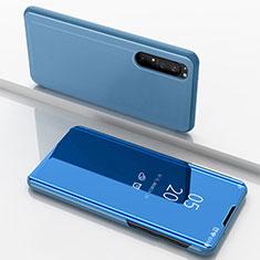 Funda de Cuero Cartera con Soporte Espejo Carcasa L03 para Sony Xperia 1 II Azul