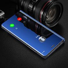 Funda de Cuero Cartera con Soporte Espejo Carcasa M01 para Huawei Honor 20 Pro Azul