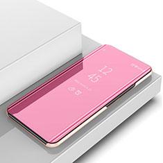 Funda de Cuero Cartera con Soporte Espejo Carcasa M01 para Samsung Galaxy Note 10 Plus 5G Oro Rosa