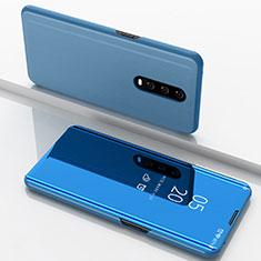 Funda de Cuero Cartera con Soporte Espejo Carcasa M02 para Oppo R17 Pro Azul