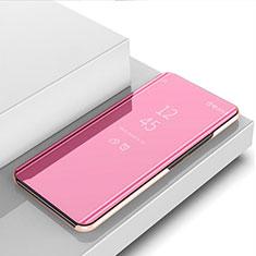 Funda de Cuero Cartera con Soporte Espejo Carcasa M03 para Huawei Nova 5i Oro Rosa