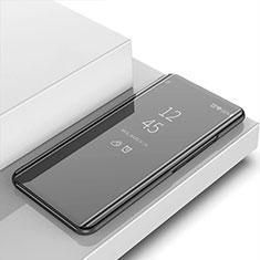 Funda de Cuero Cartera con Soporte Espejo Carcasa para Apple iPhone 12 Pro Max Negro