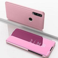 Funda de Cuero Cartera con Soporte Espejo Carcasa para Huawei Enjoy 10 Plus Oro Rosa