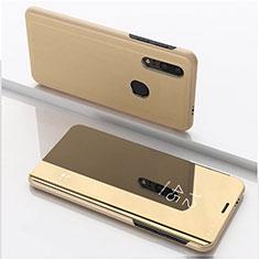 Funda de Cuero Cartera con Soporte Espejo Carcasa para Huawei Honor 20 Lite Oro