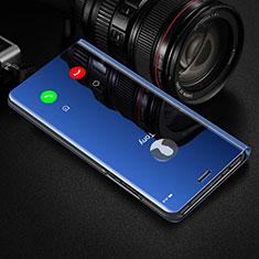 Funda de Cuero Cartera con Soporte Espejo Carcasa para Huawei Honor View 30 Pro 5G Azul