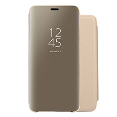 Funda de Cuero Cartera con Soporte Espejo Carcasa para Huawei Nova 5 Oro
