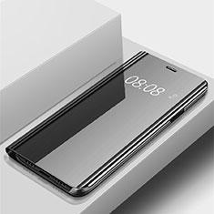 Funda de Cuero Cartera con Soporte Espejo Carcasa para Huawei P Smart (2019) Negro