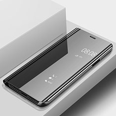 Funda de Cuero Cartera con Soporte Espejo Carcasa para Huawei P20 Lite Negro