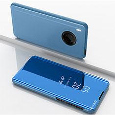 Funda de Cuero Cartera con Soporte Espejo Carcasa para Huawei Y9a Azul