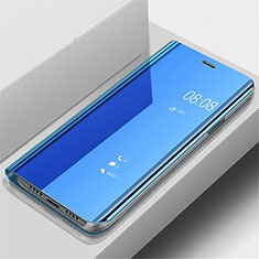 Funda de Cuero Cartera con Soporte Espejo Carcasa para OnePlus 7 Pro Azul