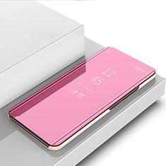 Funda de Cuero Cartera con Soporte Espejo Carcasa para Realme 6s Oro Rosa