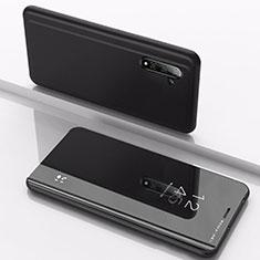 Funda de Cuero Cartera con Soporte Espejo Carcasa para Samsung Galaxy Note 10 5G Negro