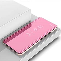Funda de Cuero Cartera con Soporte Espejo Carcasa para Samsung Galaxy Note 20 5G Oro Rosa