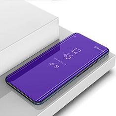 Funda de Cuero Cartera con Soporte Espejo Carcasa para Samsung Galaxy S21 Ultra 5G Morado