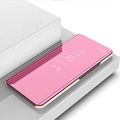 Funda de Cuero Cartera con Soporte Espejo Carcasa para Samsung Galaxy S21 Ultra 5G Oro Rosa