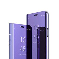 Funda de Cuero Cartera con Soporte Espejo Carcasa para Sony Xperia 1 Morado