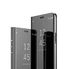 Funda de Cuero Cartera con Soporte Espejo Carcasa para Sony Xperia 1 Negro