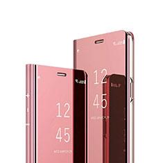 Funda de Cuero Cartera con Soporte Espejo Carcasa para Sony Xperia 1 Oro Rosa