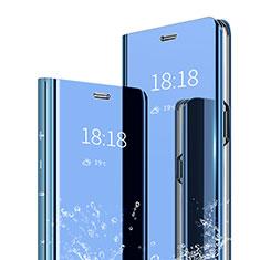 Funda de Cuero Cartera con Soporte Espejo Carcasa para Xiaomi Mi A2 Azul