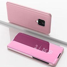 Funda de Cuero Cartera con Soporte Espejo Carcasa para Xiaomi Redmi 10X Pro 5G Oro Rosa
