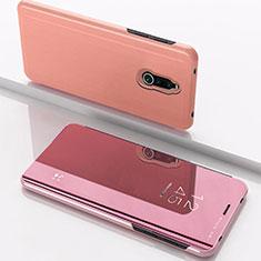 Funda de Cuero Cartera con Soporte Espejo Carcasa para Xiaomi Redmi 8 Oro Rosa