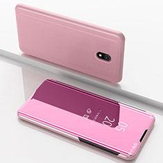Funda de Cuero Cartera con Soporte Espejo Carcasa para Xiaomi Redmi 8A Oro Rosa