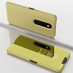 Funda de Cuero Cartera con Soporte Espejo Carcasa para Xiaomi Redmi K20 Oro