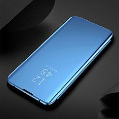Funda de Cuero Cartera con Soporte Espejo Carcasa para Xiaomi Redmi Note 8 Azul