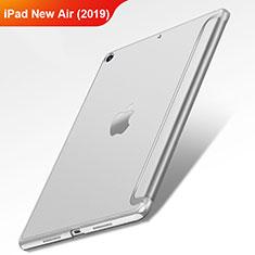 Funda de Cuero Cartera con Soporte L01 para Apple iPad Air 3 Plata