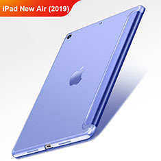 Funda de Cuero Cartera con Soporte L01 para Apple iPad New Air (2019) 10.5 Azul