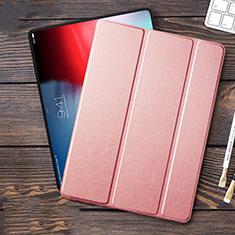 Funda de Cuero Cartera con Soporte L01 para Apple iPad Pro 12.9 (2018) Rosa