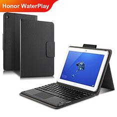 Funda de Cuero Cartera con Soporte L01 para Huawei Honor WaterPlay 10.1 HDN-W09 Negro