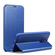 Funda de Cuero Cartera con Soporte L01 para Huawei Mate 10 Lite Azul