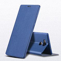Funda de Cuero Cartera con Soporte L01 para Huawei Mate 8 Azul