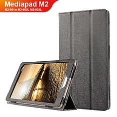 Funda de Cuero Cartera con Soporte L01 para Huawei Mediapad M2 8 M2-801w M2-803L M2-802L Negro