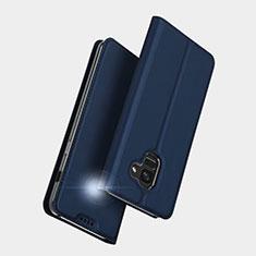 Funda de Cuero Cartera con Soporte L01 para Samsung Galaxy A5 (2018) A530F Azul