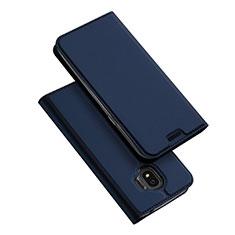 Funda de Cuero Cartera con Soporte L01 para Samsung Galaxy J2 Pro (2018) J250F Azul