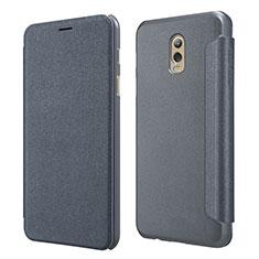 Funda de Cuero Cartera con Soporte L01 para Samsung Galaxy J7 Plus Negro
