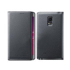 Funda de Cuero Cartera con Soporte L01 para Samsung Galaxy Note Edge SM-N915F Negro