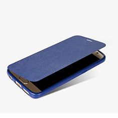 Funda de Cuero Cartera con Soporte L01 para Samsung Galaxy S7 G930F G930FD Azul