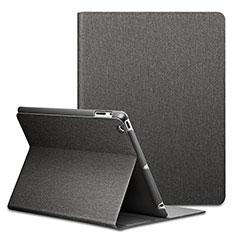 Funda de Cuero Cartera con Soporte L02 para Apple iPad 4 Negro