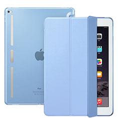 Funda de Cuero Cartera con Soporte L02 para Apple iPad Pro 12.9 Azul Cielo
