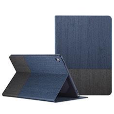 Funda de Cuero Cartera con Soporte L02 para Apple iPad Pro 9.7 Azul